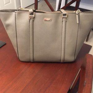 Grey Kate Spade tote bag